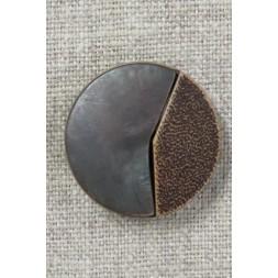 2-delt brun knap 26 mm.-20