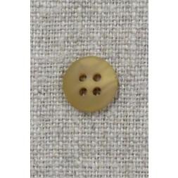 4-huls knap lys okker meleret 11 mm.-20