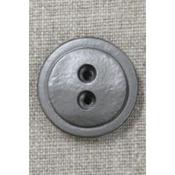 2-huls plast knap i gl.sølv 28 mm.-20