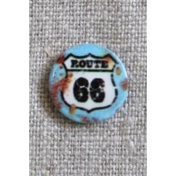 2-huls Knap med Route 66-20