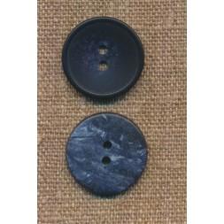 2-huls knap meleret i mørkeblå og denim, 22 mm.-20
