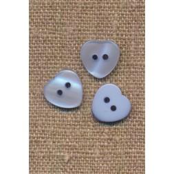 Hjerte knap i lyseblå, 12 mm.-20