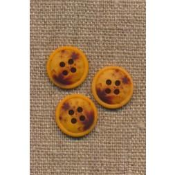 4-huls knap meleret gul carry mørkebrun 15 mm.-20