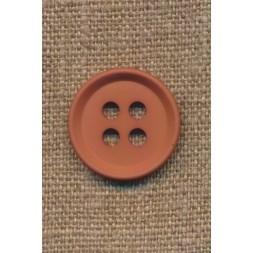 4-huls knap i rød-brun 23 mm.-20