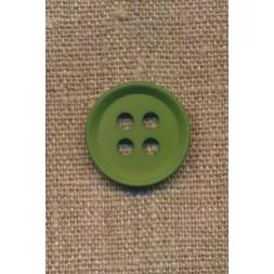 4-huls knap i grøn 15 mm.-20