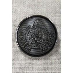 Koksgrå knap med våbenskjold, 29 mm.-20