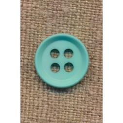 4-huls knap i aqua 15 mm.-20