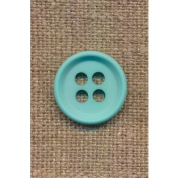 4-huls knap i aqua 18 mm.-20