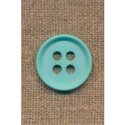 4-huls knap i aqua 23 mm.-20