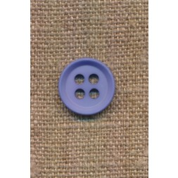 4-huls knap i lys blå 15 mm.-20