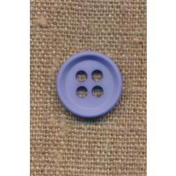 4-huls knap i lys blå 18 mm.-20