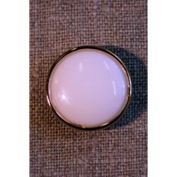 Knækket hvid m/guld kant-20
