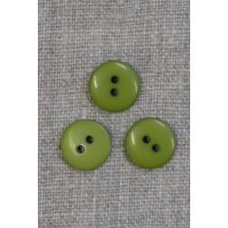 2-huls knap i lime-grøn 13 mm.-20