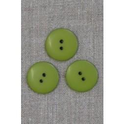 2-huls knap i lime-grøn 23 mm.-20