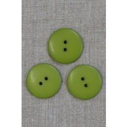 2-huls knap i lime-grøn 28 mm.-20