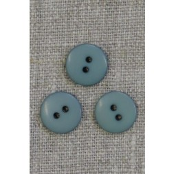 2-huls knap i vandgrøn 13 mm.-20