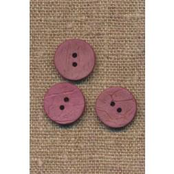 Kokos knap i mørk rosa 15 mm.-20