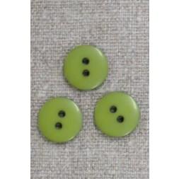 2-huls knap i lime-grøn 15 mm.-20
