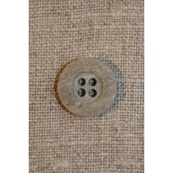 Granitgrå 4-huls knap 15 mm.-20