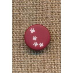 Knap med poter i bordeaux, 12 mm.-20