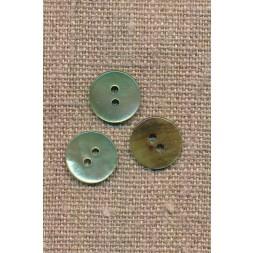 Perlemors-knap støvet lys grøn 13 mm.-20