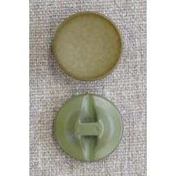 Rund knap krakkeleret i oliven-brun, 25 mm.-20