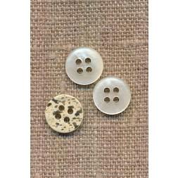 Lille offwhite 4-huls knap 12 mm. i perlemors-look-20