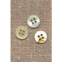 Offwhite 4-huls knap 9 mm. i perlemor-20