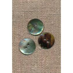 Perlemors-knap lys grøn 15 mm.-20
