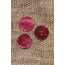 Perlemors-knap lys hindbær 15 mm.-20