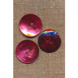 Perlemors-knap lys hindbær 23 mm.-20