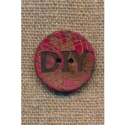 Kokos knap i rød DIY 23 mm.-20