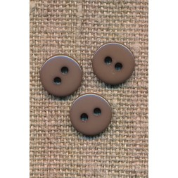 2-huls knap i støvet brun 10 mm.-20