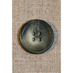 Grå/grøn 4-huls knap 20 mm-20