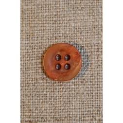 Orange/gylden krakeleret knap 11 mm.-20