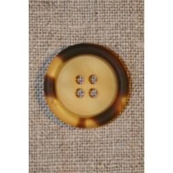 Gylden/brun knap 22 mm.-20