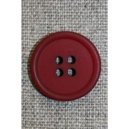 Mørk rød 4-huls knap, 20 mm.-20