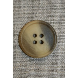 4-huls knap brun/gul, 23 mm.-20