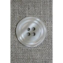 4-huls knap m/cirkel, lysegrå-20