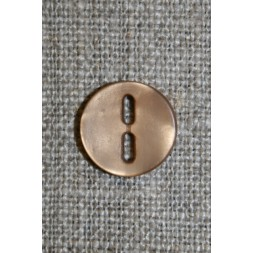 Lysebrun knap m/aflange huller, 12 mm.-20