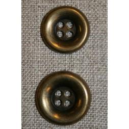 4-huls gl.guld knap, 15 mm.-20