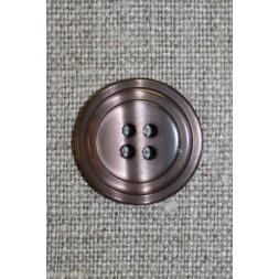 4-huls knap m/cirkel, pudder-brun-20