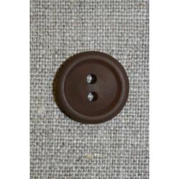 Brun 2-huls knap, 17 mm.-20