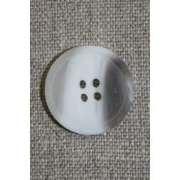 4-huls knap hvid/klar/grå-brun 18 mm.-20