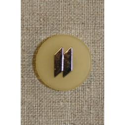 Knap lysegul m/sølv 20 mm.-20