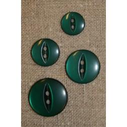 Blank 2-huls knap flaskegrøn, 11 mm.-20