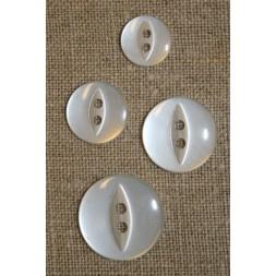 Blank 2-huls knap hvid 19 mm.-20