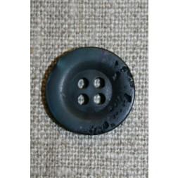 Blå krakeleret knap, 18 mm.-20