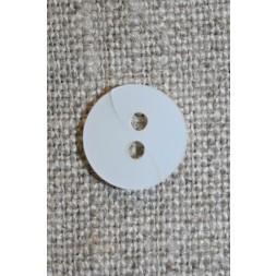 Hvid knap m/drejet look, 11 mm.-20