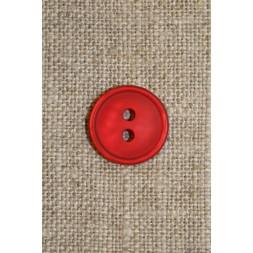 Rød 2-huls knap 13 mm.-20
